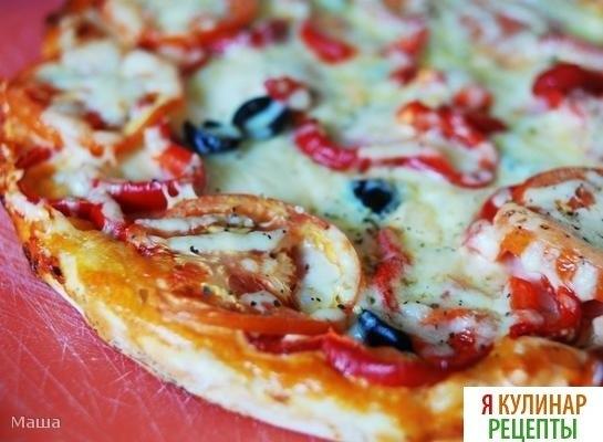 Быстрая пицца кефире рецепт фото