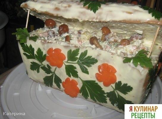 Салаты рецепты домик