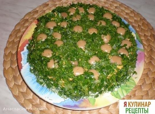 Салат полянка с огурцами рецепт